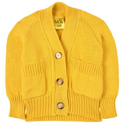 Marques Almeida Chunky Knit Cardigan Yellow