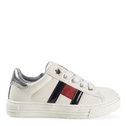 Tommy Hilfiger Flag Logo Sneakers White