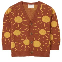 Bobo Choses Sun Jacquard Cardigan Coconut Shell