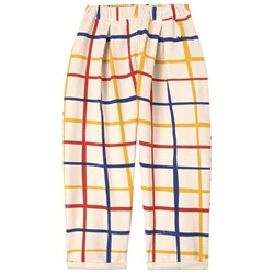 Bobo Choses Checkered Baggy Pants Custard