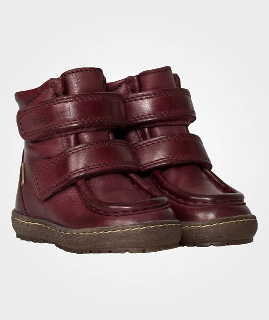Bisgaard Boots Velcro Wine Red