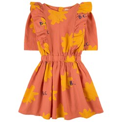 Bobo Choses Sparkle Woven Dress Orange