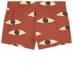 Bobo Choses Eyes Shorts Brown