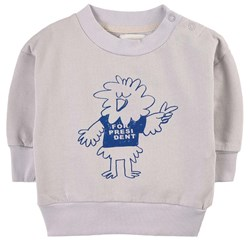 Bobo Choses Bird Says Yes Sweatshirt Gray