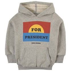 Bobo Choses For President Hoodie Gray