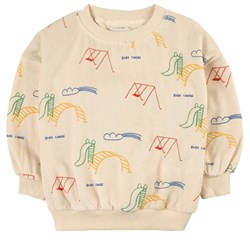 Bobo Choses Playground Terry Sweatshirt Cream