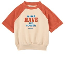 Bobo Choses Kids Have The Power Sweatshirt Cream