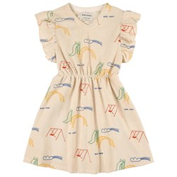 Bobo Choses Playground Terry Dress Cream