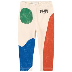 Bobo Choses Play Landscape Baby Leggings Cream