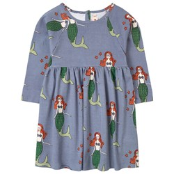 nadadelazos Happy Mermaids Dress Puddle Blue