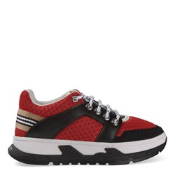 Burberry Icon Stripe Detail Sneakers Red