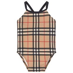 Burberry Vintage Check Swimsuit Beige