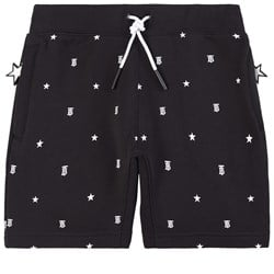 Burberry Star and Monogram Motif Shorts Black