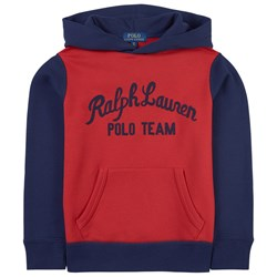 Ralph Lauren Color Block Polo Team Hoodie Red