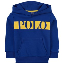 Ralph Lauren Logo Double-Knit Hoodie Heritage Royal