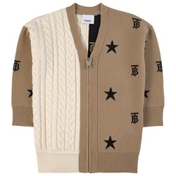 Burberry Star and Monogram Motif Cardigan Brown