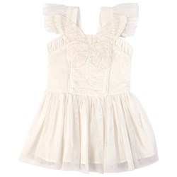 Stella McCartney Kids Butterfly and Wings Tulle Dress White