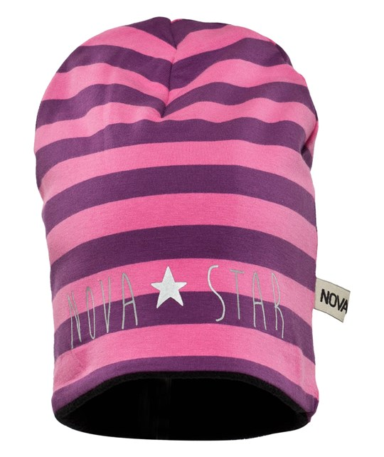 Nova Star W-Beanie Striped Dream Pink