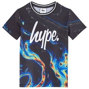 Image of Hype Black Rainbow Marble T-shirt 13 Years (1781052)