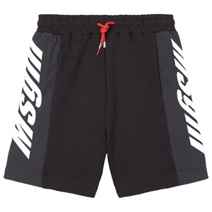 Image of MSGM Black MSGM Nylon and Sweat Shorts 12 år (1781801)