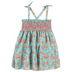Louise Misha Tapalpa Dress Turquoise Flowers