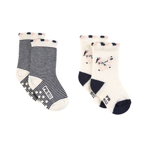 Image of Petit Bateau 2-Pack Socks White 15-16 (1 month) (1816227)