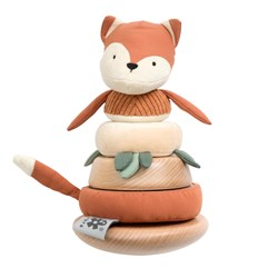 Sebra Sparky the Fox Stacking Toy Brown