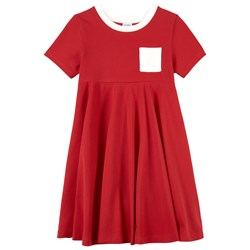 Petit Bateau Red Dress with Pocket