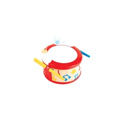 Hape Learn to Play Drum Red