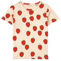 Mini Rodini Strawberry T-Shirt Cream