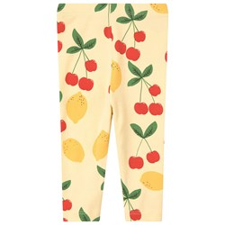 Mini Rodini Cherry Lemonade Leggings Yellow