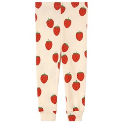 Mini Rodini Strawberry Leggings Gräddvita