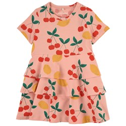 Mini Rodini Exclusive Cherry Lemonade Dress Pink