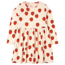 Mini Rodini Strawberry Dress Cream