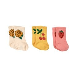 Mini Rodini 3-Pack Strawberry Socks Multicolor