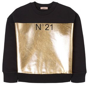 Image of N°21 Logo Print Sweatshirt Black 10 år (1798423)