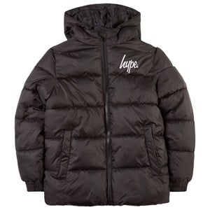 Image of Hype Hooded Puffer Jacket Black 11-12 år (1781116)
