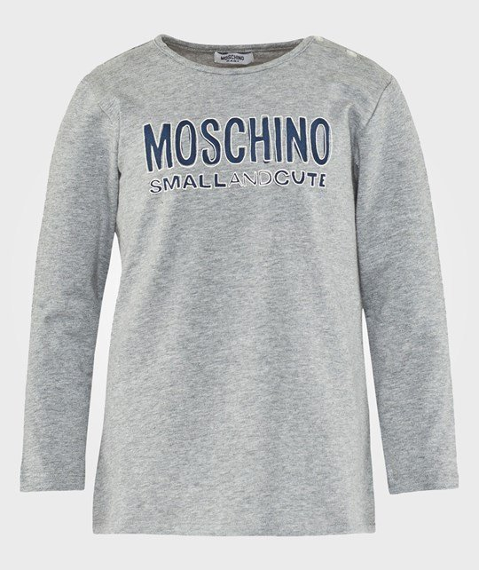 Moschino Baby Long Sleeves T Shirt Light Grey Melange Black