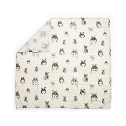 Elodie Bamboo Muslin Blanket Forest Mouse