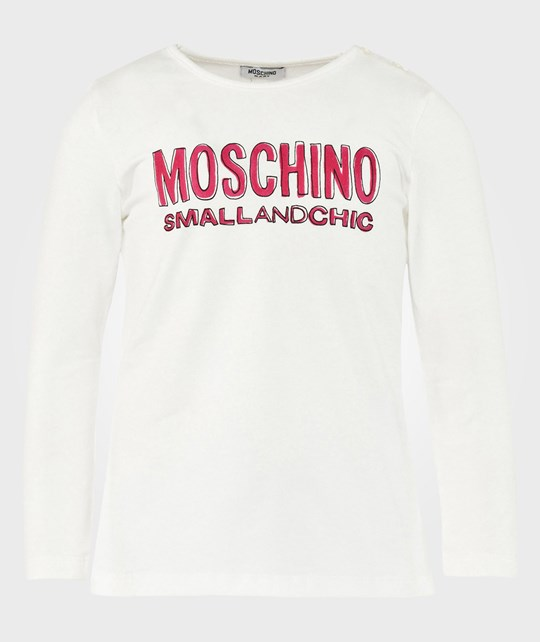 Moschino Baby Long Sleeves T Shirt Cream Beige