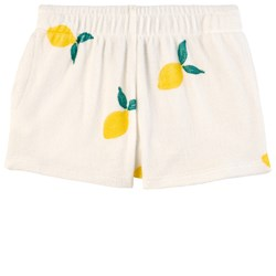 Weekend House Kids Lemon Print Shorts White