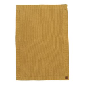 Image of Elodie Wool Knitted Blanket Gold one size (1869197)