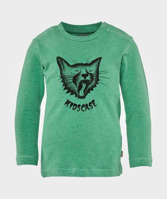 Kidscase Floor Organic Cat Baby T-Shirt Bright Green Green