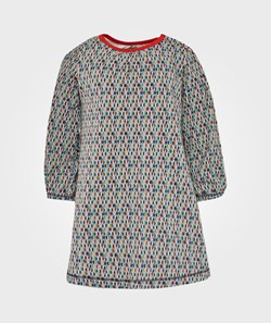 Kidscase Rock Organic Baby Dress Red Multi Print