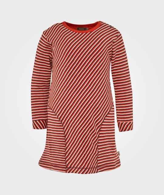 Kidscase Oliver Organic Baby Dress Red Stripe Red