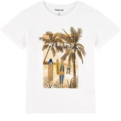 Mayoral Palm and Surf Print T-Shirt White