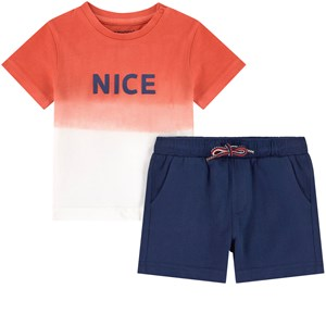 Image of Mayoral Ombre Print T-shirt And Shorts Set Red 36 mdr (1838820)