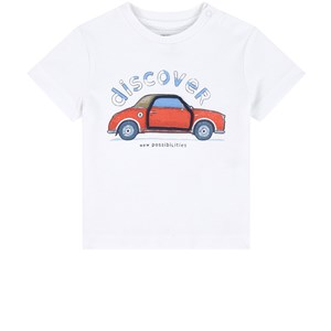 Image of Mayoral White Car Print Tee 18 mdr (1846593)
