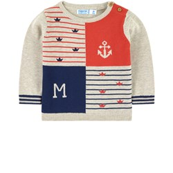 Mayoral Nautical Knitted Sweater Beige