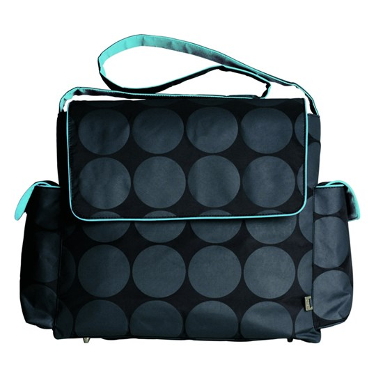 OiOi Messenger Charcoal Dot Turquoi Blue